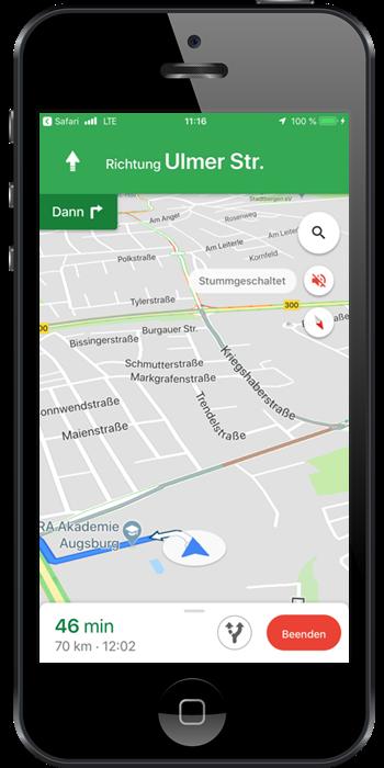 Straßenkarte der webbasierten Dispositions-Software